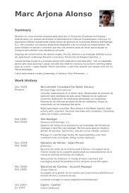 Recruitment Resume Recruitment Consultant Resume Samples Visualcv Resume Samples
