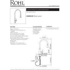 rohl a3420lmpn 2 country patrizia polished nickel pullout spray