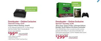 best black friday deals on desktop pcs dell black friday deal includes xbox one gears of war and