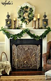 attractive fireplace decor with various simple mantel decoration