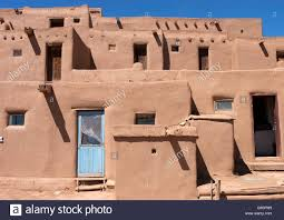 traditional adobe native american housing stock photo royalty