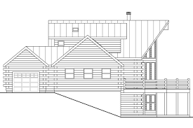 a frame house plans kodiak 30 697 associated designs log home floor plan kodiak 30 697 left elevation