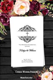 Diy Wedding Ceremony Program 103 Best Catholic Wedding Programs Diy Printable Order Of Service