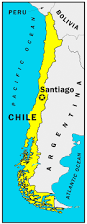South America Country Map by Highlighted Chile On Map Of South America With National Flag Stock