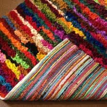 Denim Rag Rug Mixed Fabric U0026 Denim Rag Rug 60 X 90 Cm One Off Second Nature Online
