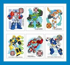 transformer rescue bots party supplies 12 transformers rescue bots temporary tattoos party favors