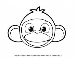 Drawing Monkey Face Printable Monkey Clipart Coloring Pages