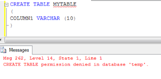 how to create temp table in sql sql server 2008 create temp table permission access varinder sandhu