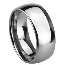 mens wedding bands cobalt s cobalt chrome wedding band with domed profile and polished