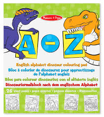 melissa u0026 doug english alphabet dinosaur colouring pad english