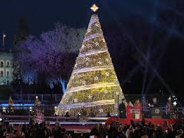 christmas tree lighting near me melania trump leads 95th annual national christmas tree lighting