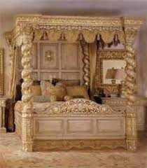 Reproduction Bedroom Furniture by Royal Gold Bedroom Set Carved With King Size Bed Top And Best