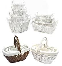 oval rectangl white french shabby chic wicker kitchen crafts home