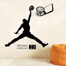 Decoration Star Wall Decals Home by 2017 Michael Jordan Basketball Inspirational Wall Sticker