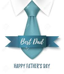 best dad happy fathers day background with blue tie ribbon