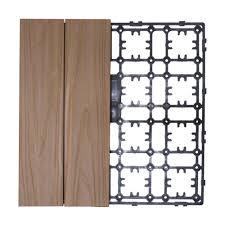 Teak Floor Tiles Outdoors by Newtechwood Deck A Floor Premium Modular Outdoor Composite