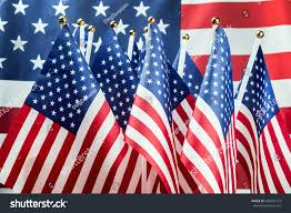 Big American Flags Small American Flags Background Big Usa Stock Photo 459625723