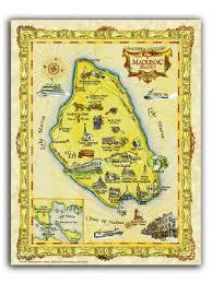 map of mackinac island maps and prints