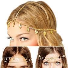 boho headband top quality gold plated chain boho headband