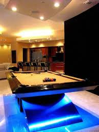 pool table ceiling lights modern home billiard room design with pool table and led lighting