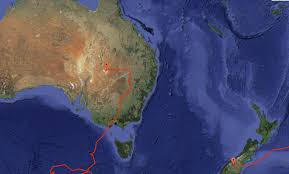 Where Is New Zealand On The Map Super Pressure Balloon Flight Map Nasa