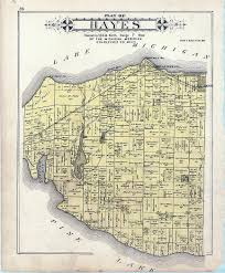 Michigan Township Map by Old Hayes Township Plat Map Hayes Township