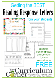 friendly letter template 2nd grade reading response letters the curriculum corner 4 5 6 getting started with reading response letter writing in your classroom free resources from the curriculum