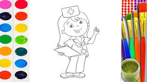 draw baby doctor coloring pages art colours for children youtube