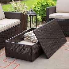 outdoor wicker storage ottoman coffe table furniture coral coast berea outdoor wicker storage