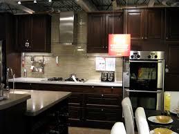 glass tile backsplash with dark cabinets staggering glass tile home kitchen furniture odern concept kitchen