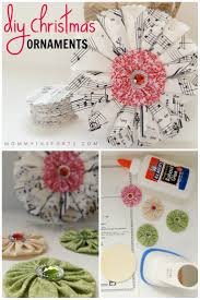 diy ornaments vintage sheet