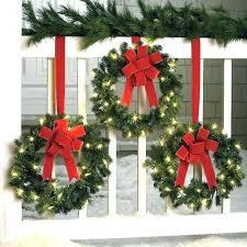 cordless lighted wreath cordless lighted wreath and garland set