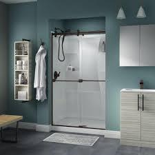 celesta shower doors basco celesta 48 in x 71 1 4 in semi frameless sliding shower