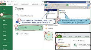 timesaving file menu tricks in excel 2010 2013 accountingweb