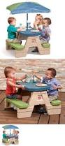 Patio Umbrellas Ebay by Step 2 52344 Picnic Table Patio Umbrella Kids Toddler Preschool