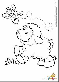 incredible sheep coloring page butterfly with lamb coloring page
