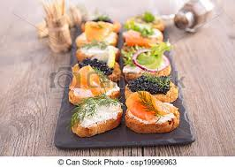 canapé toast canape assortment of toast stock image search photos and photo