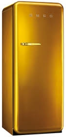 k hlschrank 50er design retro kühlschrank im 50er jahre stil in gold das highlight z b