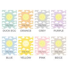 sunshine personalised baby shower guest book print by bird u0026 key