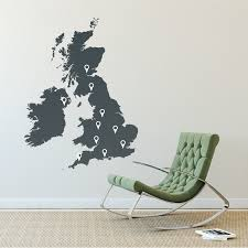 wall decoration uk map wall sticker lovely home decoration and uk map wall sticker