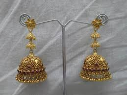 antique gold jhumka earrings antique gold jhumkas boutiquedesignerjewellery
