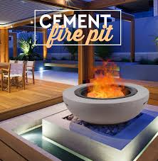 new oval fire pit round cement fireplace heater bowl mesh cover