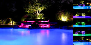 patio entrancing outdoor water lighting pool ponds waterfall