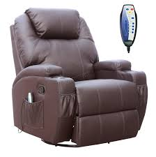 Brown Bonded Leather Sofa Foxhunter Bonded Leather Sofa Massage Recliner Chair Swivel
