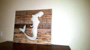 Outstanding Wooden Mermaid Wall Decor Handcrafted Wooden Pallet