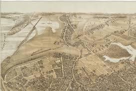 Portland Me Map by Portland Maine In 1876 Bird U0027s Eye View Map Aerial Panorama