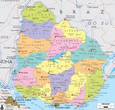 Map Of South American Countries Large Detailed Political And Administrative Map Of Uruguay