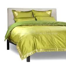 duvet covers olive green 5 piece handmade sari duvet cover set