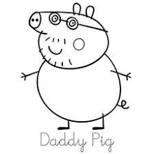 print coloring image george pig