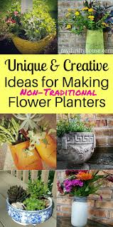 fun ideas for creating unique flower planters my thrifty house